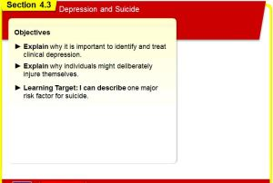 Learning Targets - Chapter 4 section 3